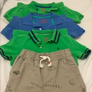 BUNDLE 3 polos and 1 short